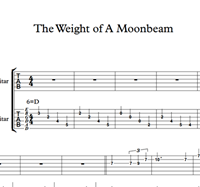 The Weight Of A Moonbeam - Sheet Music & Tabs の画像