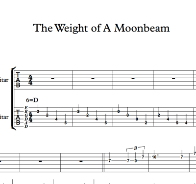 Image sur The Weight Of A Moonbeam - Sheet Music & Tabs
