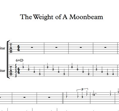 图片 The Weight Of A Moonbeam - Sheet Music & Tabs