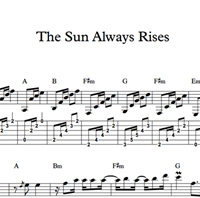 Picture of The Sun Always Rises - Sheet Music & Tabs