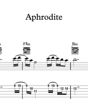 图片 Aphrodite - Sheet Music & Tabs
