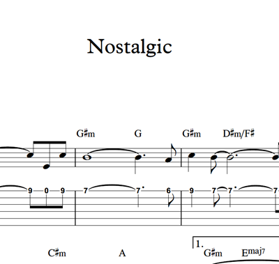 图片 Nostalgic - Sheet Music & Tabs