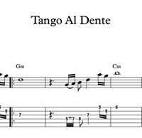Picture of Tango Al Dente - Sheet Music & Tabs