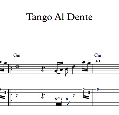 Image sur Tango Al Dente - Sheet Music & Tabs