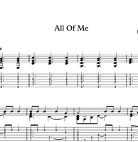 Изображение All Of Me - Sheet Music & Tabs