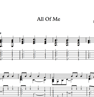 Image sur All Of Me - Sheet Music & Tabs