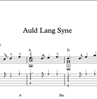 Picture de Auld Lang Syne - Sheet Music & Tabs