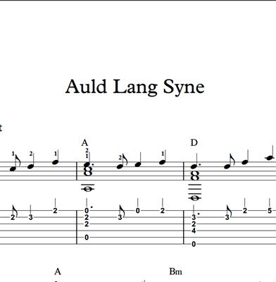 Image sur Auld Lang Syne - Sheet Music & Tabs