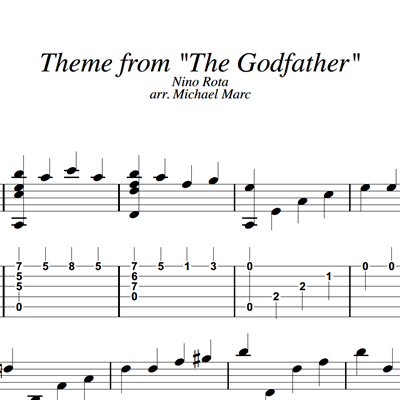 Image sur Godfather - Sheet Music & Tabs