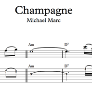 Снимка на Champagne - Sheet Music & Tabs