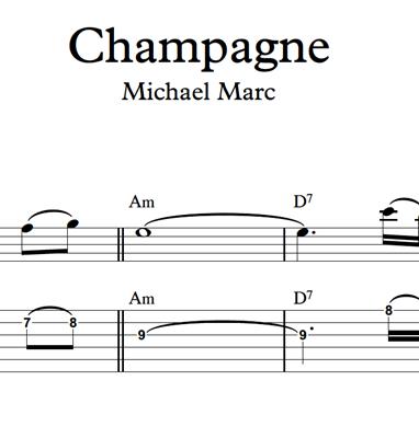 Image sur Champagne - Sheet Music & Tabs