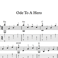 图片 Ode To A Hero - Sheet Music & Tabs