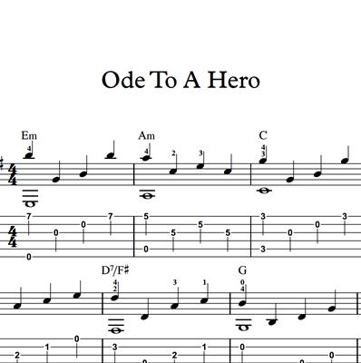 Image sur Ode To A Hero - Sheet Music & Tabs