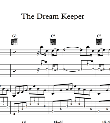Image sur The Dream Keeper - Sheet Music & Tabs