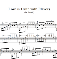 Изображение Love Is Truth With Flavors - Sheet Music & Tabs