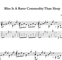 Picture of Bliss Is A Rarer Commodity Than Sleep - Sheet Music & Tabs
