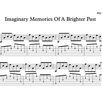 Bild von Imaginary Memories Of A Brighter Past - Sheet Music & Tabs
