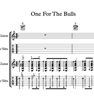Bild von One For The Bulls - Sheet Music & Tabs