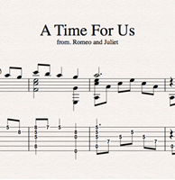 Снимка на A Time For Us - Sheet Music & Tabs