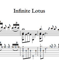 Снимка на Infinite Lotus - Sheet Music & Tabs