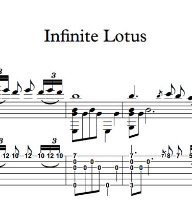 Hình ảnh của Infinite Lotus - Sheet Music & Tabs