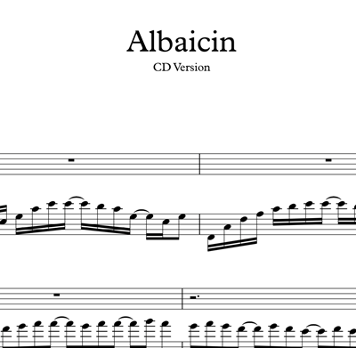 Hình ảnh của Albaicin - Sheet Music & Tabs